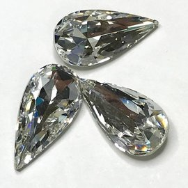 Swarovski Fancy Stone Teardrop 22x11mm Crystal Clear 2pcs