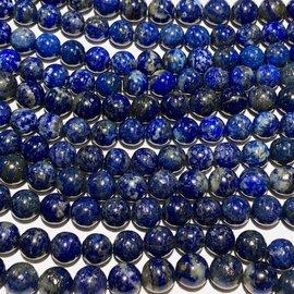 Natural UNDYED Lapis Lazuli 8mm Round