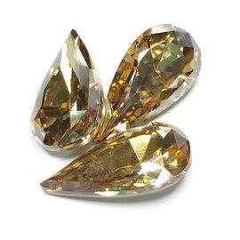 Swarovski Fancy Stone Teardrop 22x11mm Crystal Gold Shadow 2pcs