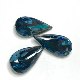 Swarovski Fancy Stone Teardrop 22x11mm Denim Blue 2pcs
