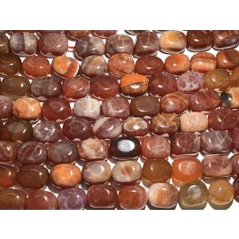 FIRE AGATE Natural Red 16 x 12mm Cuboid Beads
