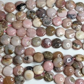 PINK OPAL Natural 12mm Coin
