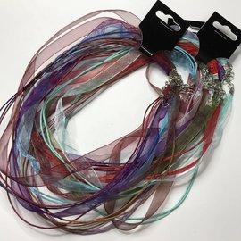 Organza Necklace Cords Assorted 4/pkg