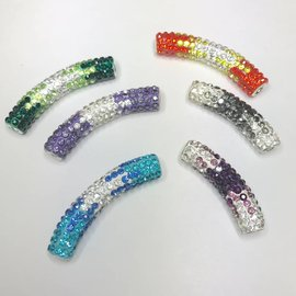 RHINESTONE Focal Pavé Bead 50mm Assorted