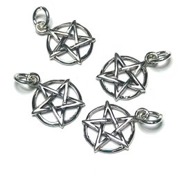 Sterling Silver Pentagram Mini Charm 13mm