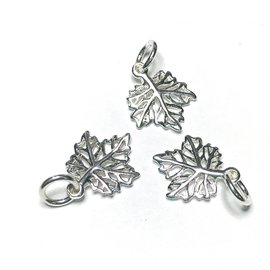 Sterling Silver Maple Leaf Mini Charm 14.5mm