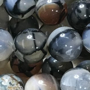 AGATE Dragons Vein Natural 10mm Round