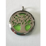 Stainless Steel Tree of Life Diffuser Locket +5 Oil Pads