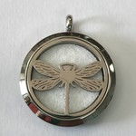 Stainless Steel Dragonfly Diffuser Locket +5 Oil Pads