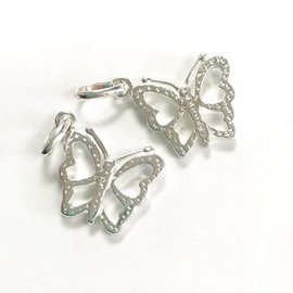 Sterling Silver Butterfly Mini Charm 15mm