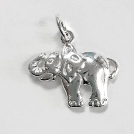Sterling Silver Elephant Charm 16x12mm