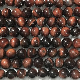 Natural RED TIGER EYE Grade A 8mm Round