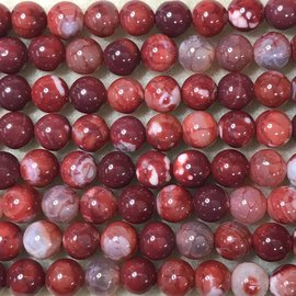 Natural AGATE Dyed Cherry Red 8mm Round