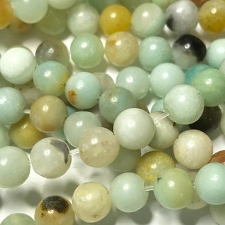 Natural Amazonite Mix 6mm Round