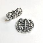 Chinese Longevity Knot 18 x 14mm Alloy Bead 8pcs