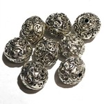 TIBETAN Carved Prayer Bead 13mm 8/pkg