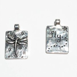 Dragonfly 20 x 13mm Alloy Charm 12pcs