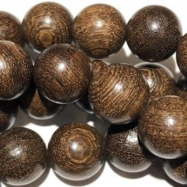 Natural Gold Phoebe Ebony Beads 10mm 108 Pcs