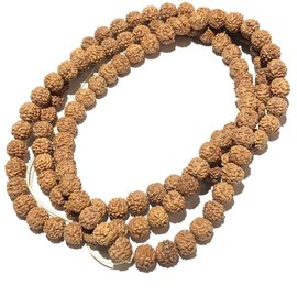 Natural RUDRAKSHA Seeds 108 Bead Strand 6mm