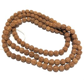 Natural RUDRAKSHA Seeds 108 Bead Strand 8mm