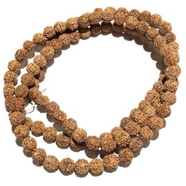 Natural RUDRAKSHA Seeds 108 Bead Strand 9mm