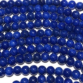 Common QUARTZ Dyed Royal Blue 6mm Round