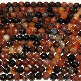 AGATE Brazilian 8mm Faceted