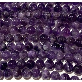 Amethyst Natural Grade AB 10mm Round