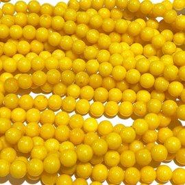 Mashan JADE Natural Dyed Yellow 6mm Round