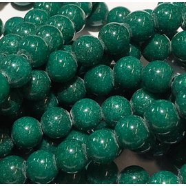 Mashan JADE Natural Dyed Dark Green 6mm Round
