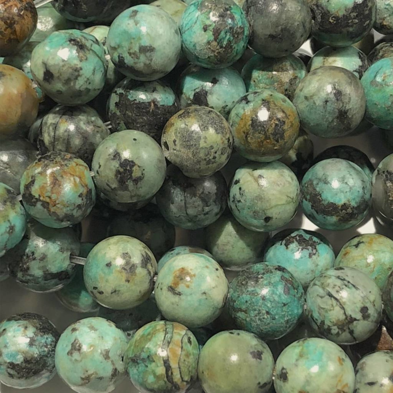 AFRICAN TURQUOISE Natural 8mm Round