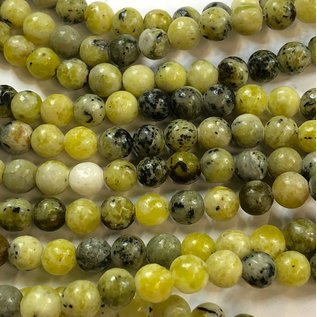 AFRICAN Yellow TURQUOISE Natural 6mm Round