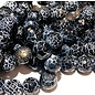 AGATE Black Snakeskin 10mm Faceted