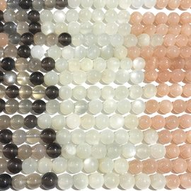 MOONSTONE Natural Colours Grade A 6mm Round