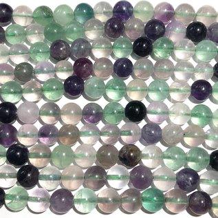 Fluorite Natural Grade B 8mm Round