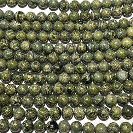 Alligator Skin JASPER Natural 10mm Round