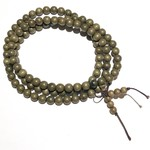 Natural Green SILKWOOD Beads 8mm 108 Pcs