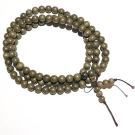 Natural Green SILKWOOD Beads 8mm 108 Pcs