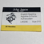 John James NEEDLES English Beading Longs #10 25/Pkg