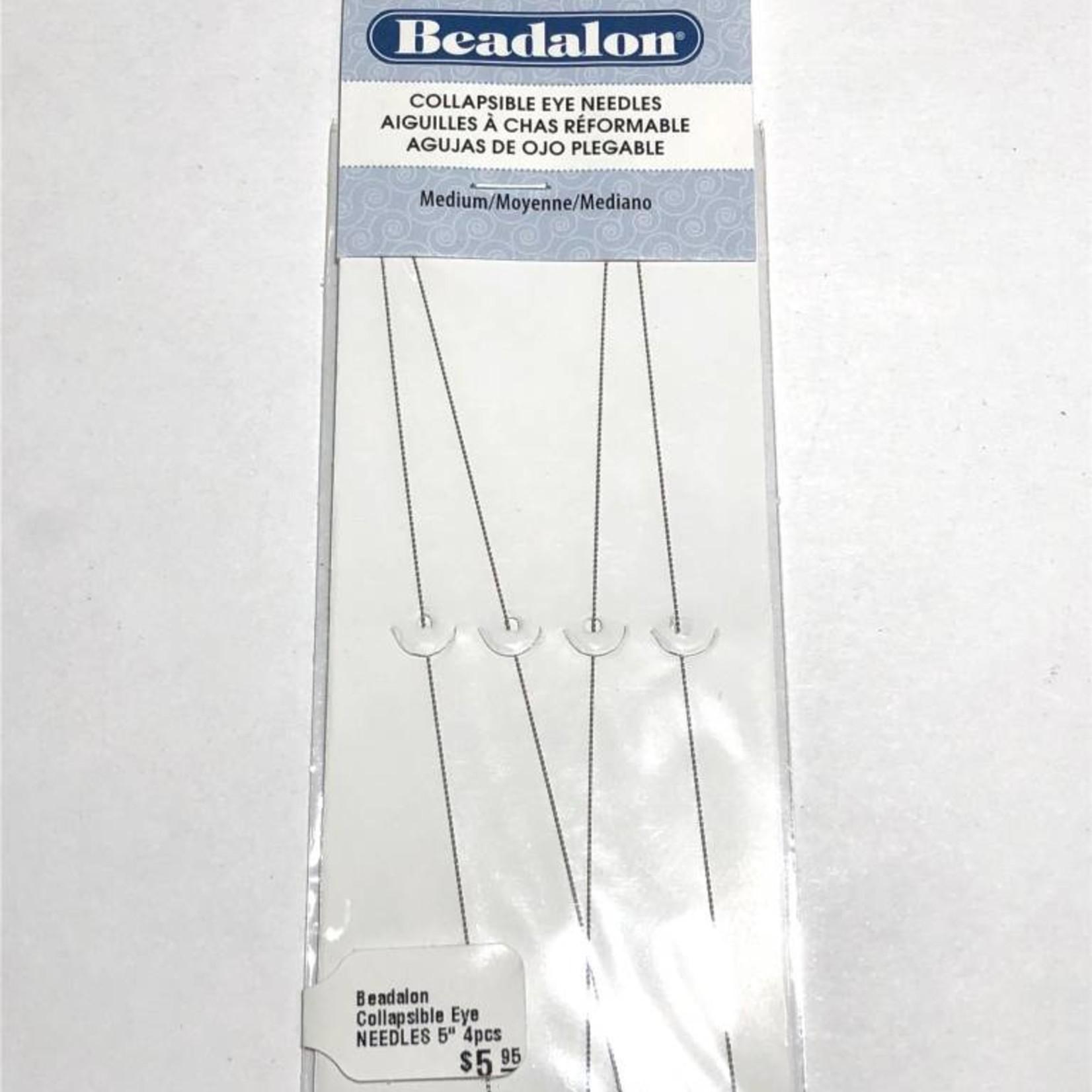 "Beadalon Collapsible Eye NEEDLES 5"" 4pcs"