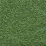 MIYUKI Delica 10-0 Opaque Green AB 10g
