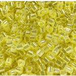 MIYUKI Delica 8-0 Lined Crystal Pale Yellow Lstr 10g