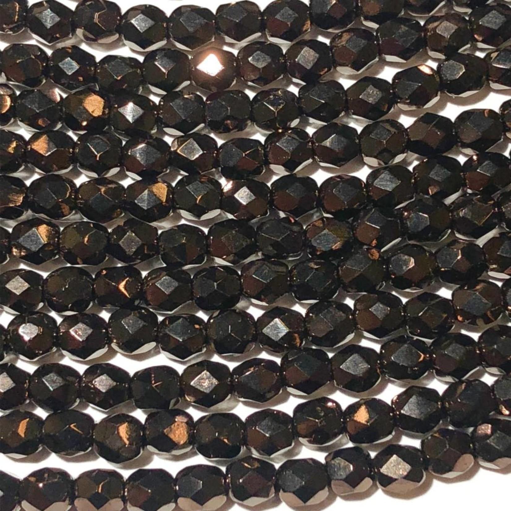 MATUBO Firepolish Chocolate Bronze 4mm