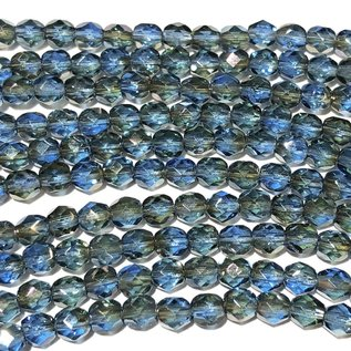MATUBO Firepolish Celsian Sapphire 4mm