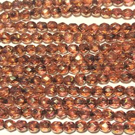 MATUBO Firepolish Rose/Gold Topaz Luster 4mm