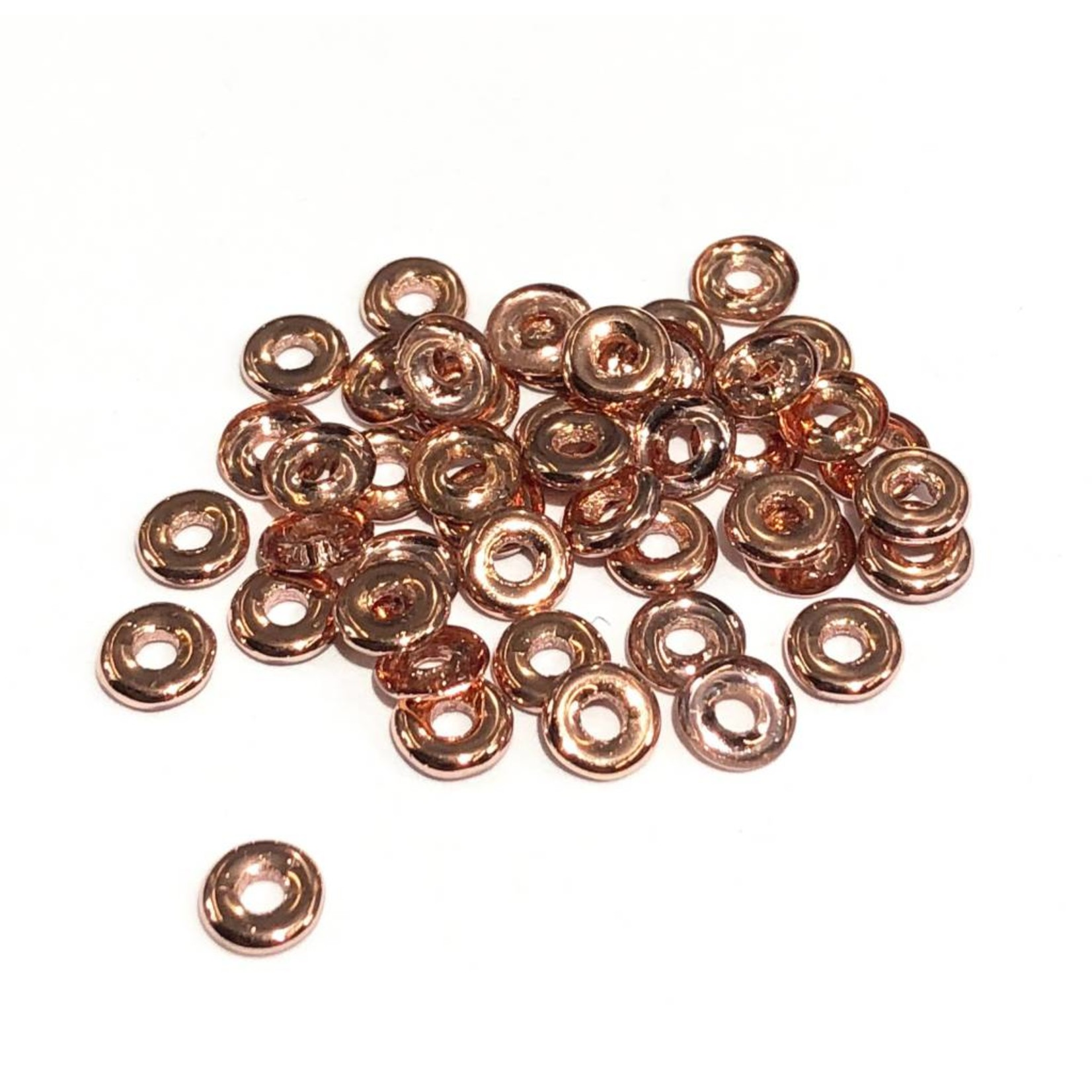 Czech O Beads Crystal Capri Gold 5g