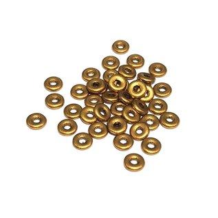 Czech O Beads Brass Gold 5g