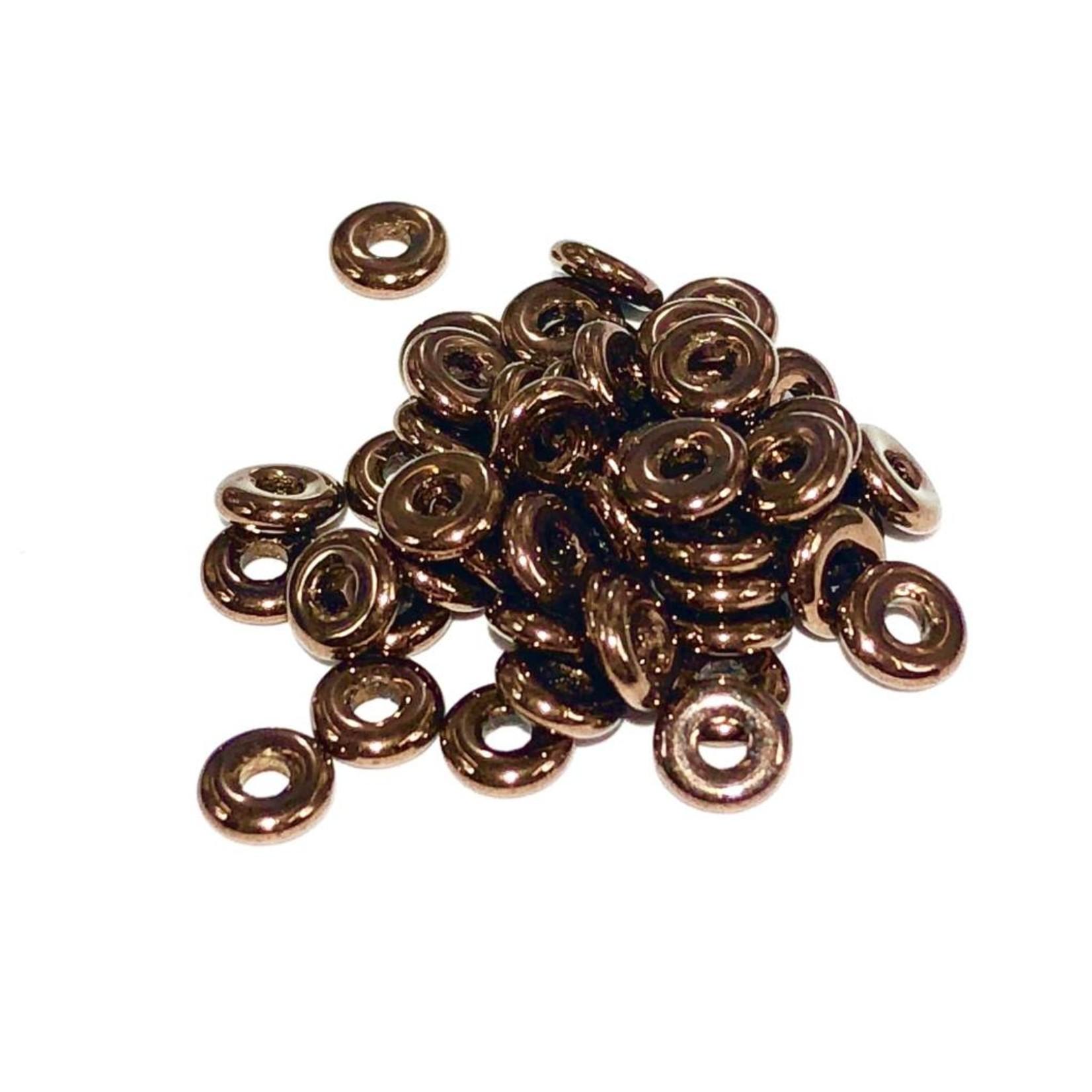 Czech O Beads Jet Bronze 5g