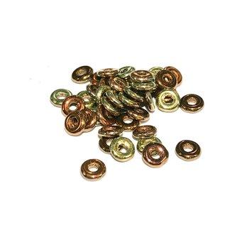 Czech O Beads Jet California Gold Rush 5g