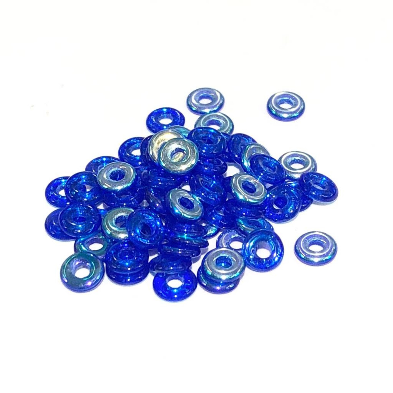 Czech O Beads Sapphire AB 5g
